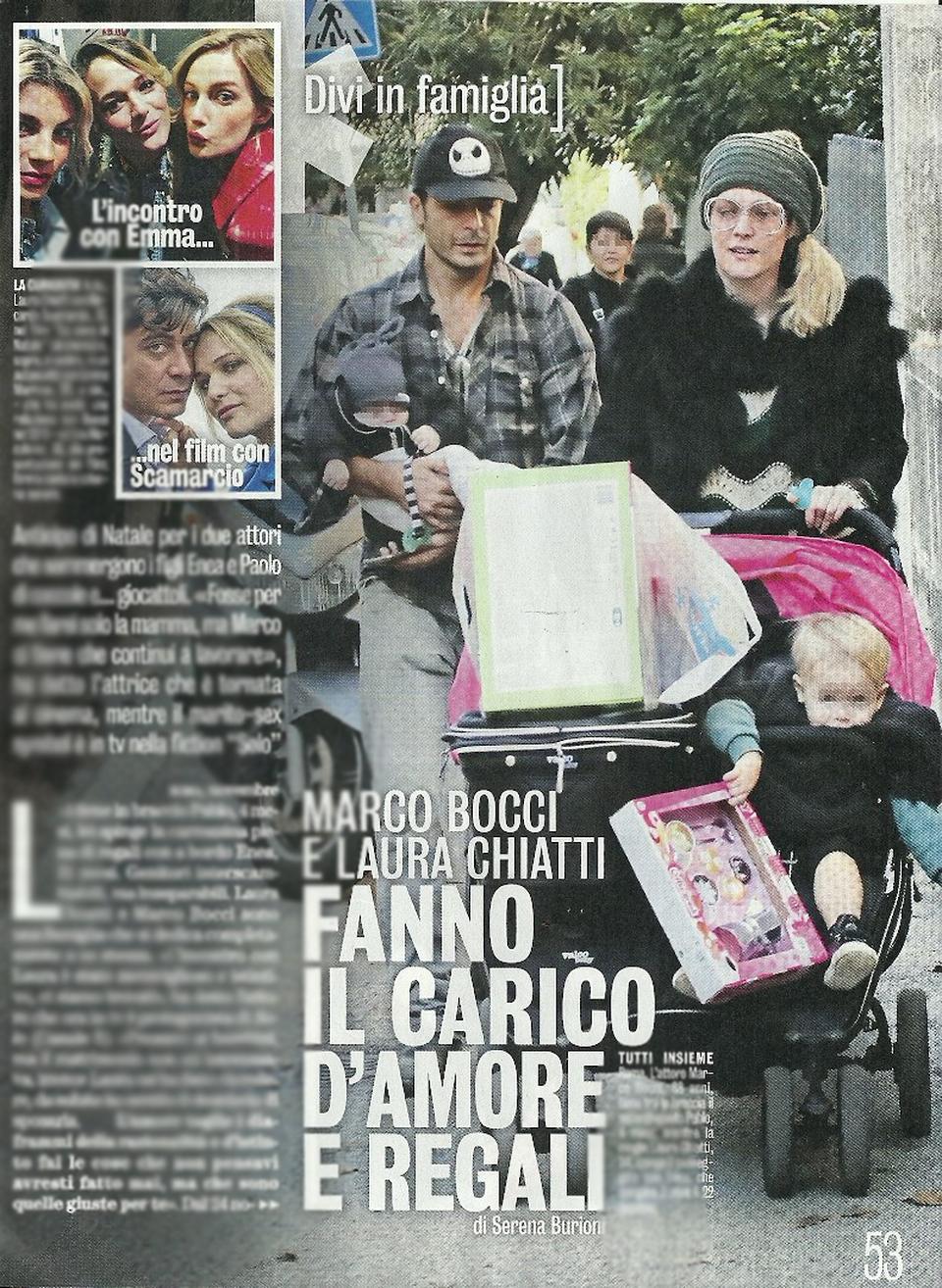Laura chiatti e marco bocci con i figli enea e pablo diva e donna corriere - Diva e donne giornale ...